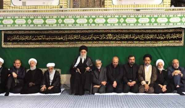 اقامة مراسم الليلة الثانية من مراسم العزاء الحسيني بمشاركة قائد الثورة