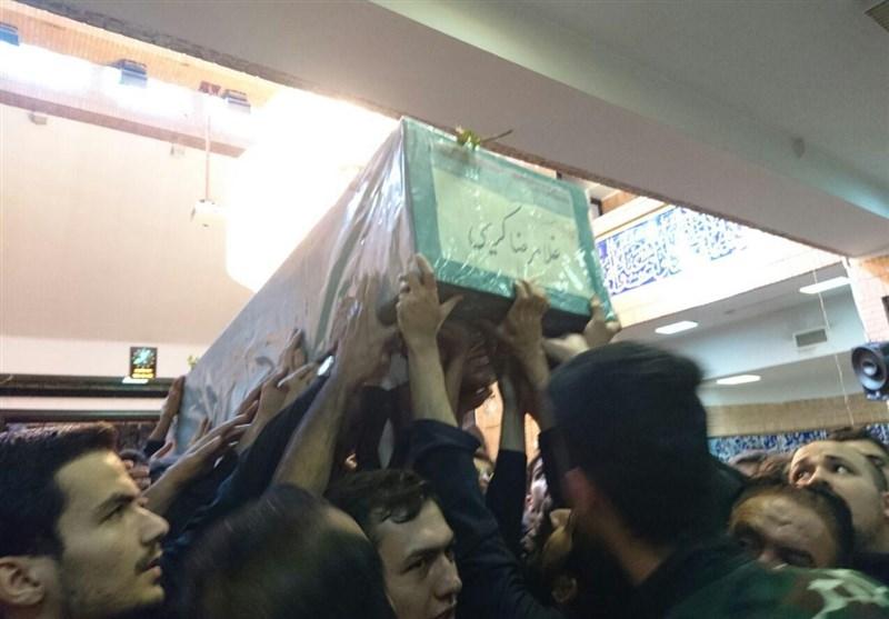 تشييع جثمان شهيد مدافع الحرم من جامعة شهيد بهشتي
