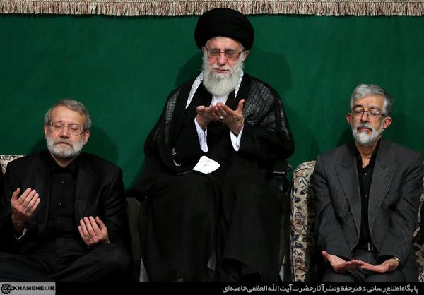 احياء مراسم ليلة تاسوعاء بمشاركة قائد الثورة الاسلامية