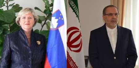 ایران وسلوفینیا تؤكدان علي تعزیز العلاقات على كافة الأصعدة