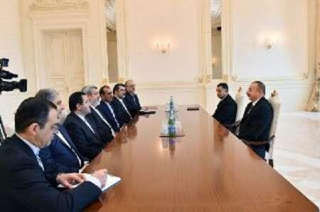 وزير الداخلية الايراني يبحث مع الرئيس الاذربيجاني التعاون الثنائي