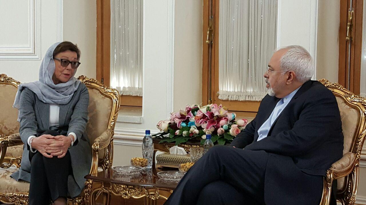 ظريف يستقبل مساعد وزير خارجية السويد