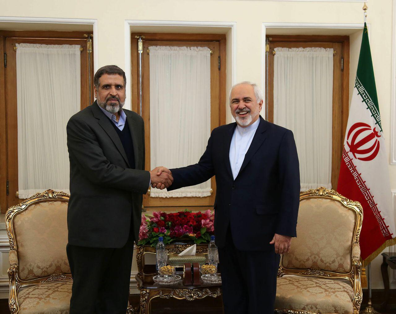ظريف يؤكد دعم ايران التام للقضية الفلسطينية