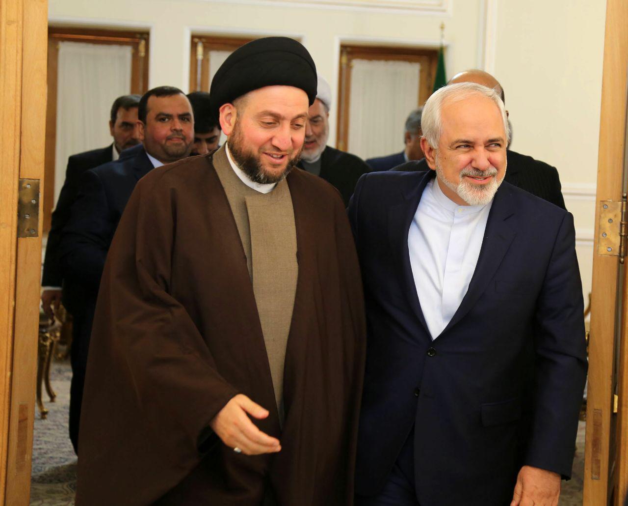 ظريف يستقبل السيد عمار الحكيم في طهران