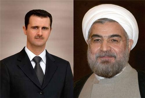 الرئيس روحاني يهنئ الرئيس الاسد بتحرير حلب من الارهابيين