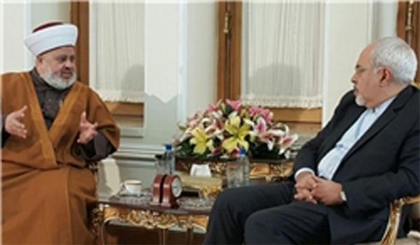 ظريف يستقبل رئيس جبهة العمل الاسلامي في لبنان