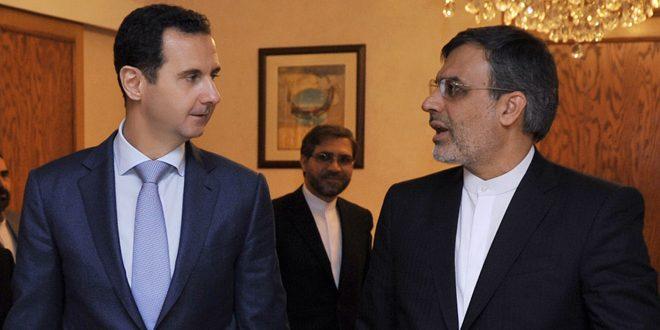 الأسد لأنصاري: تحرير حلب انتصارنا المشترك وانتكاسة للدول المعادية