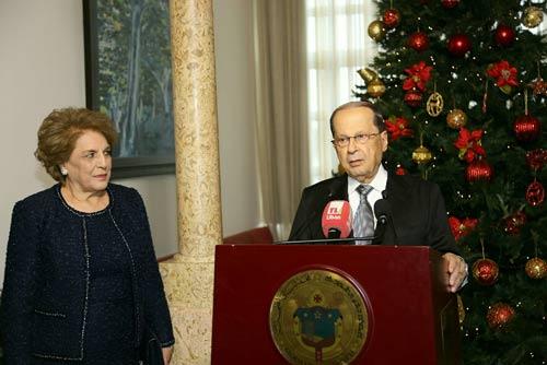 الرئيس عون شارك بقداس عيد الميلاد في بكركي: سنعمل بجهد لملء كل الفراغات