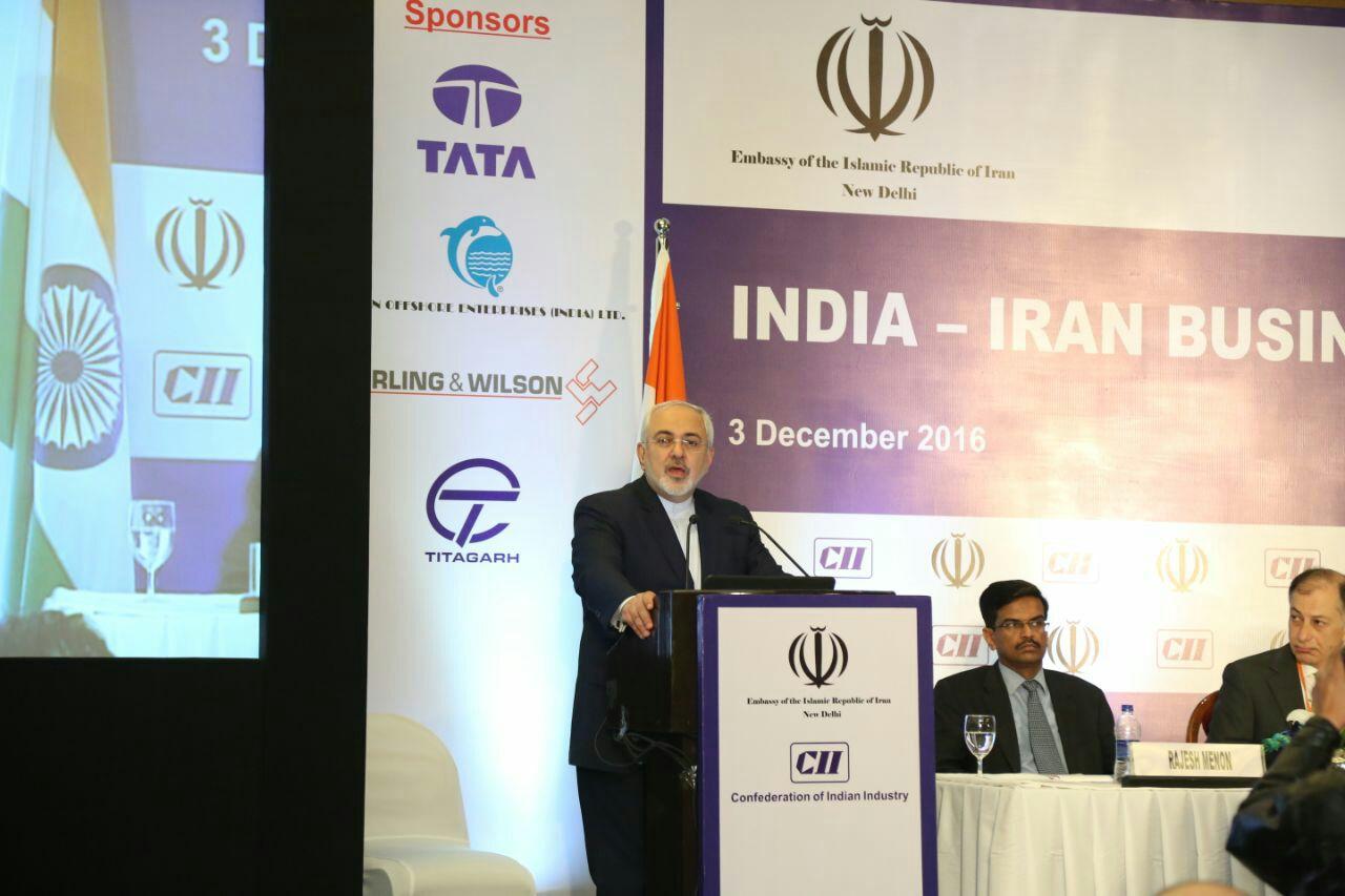 ظريف : الهند شريك تجاري هام لايران