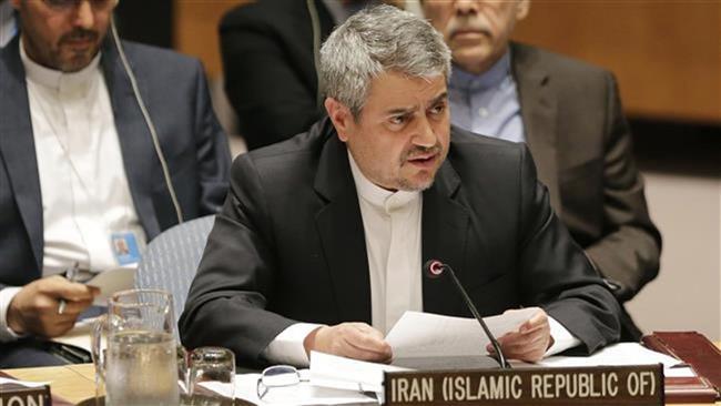 خوشرو يُسلم الأمين العام للأمم المتحدة رسالة اعتراض ايران حول قرار الكونغرس