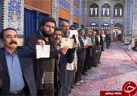 بالصور... الإقبال الشعبي المكثف علي صناديق الإقتراع في ايران