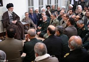 آية الله خامنئي: تعزيز قدرات القوات المسلحة القتالية و العسكرية امر ضروري
