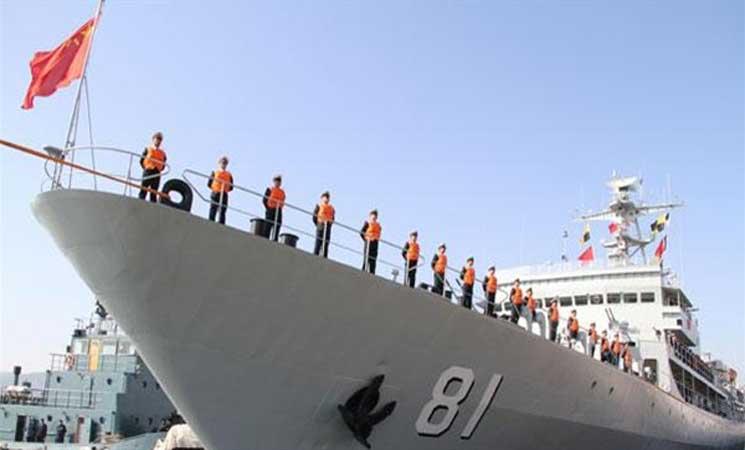سفن حربية صينية تجوب مياه دول فی الخلیج الفارسی للمرة الأولى منذ 2010