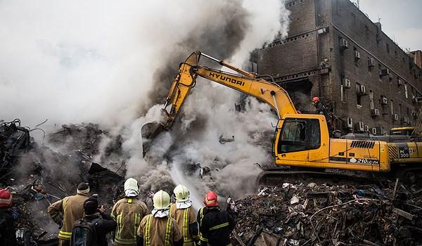 العثور على جثماني شهيدين آخرين من رجال الاطفاء بحادثة