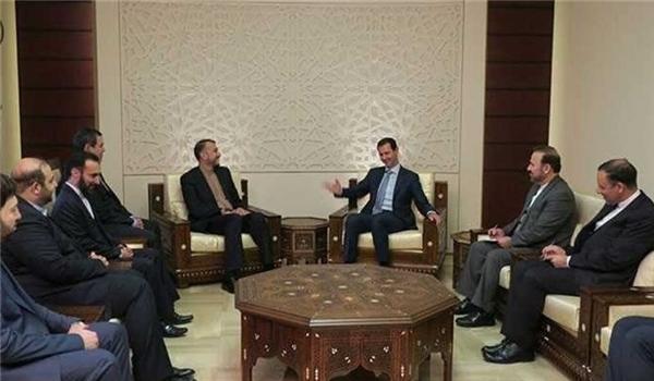 امير عبداللهيان يلتقي الرئيس الأسد