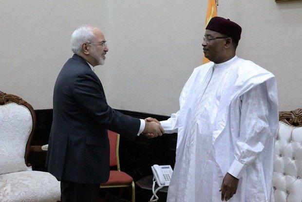 ظريف ورئيس النيجر يؤكدان علي تطوير العلاقات السياسية ومكافحة الارهاب