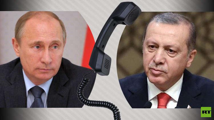 بوتين وأردوغان يبحثان الأزمة السورية وضمان مناطق خفض التصعيد
