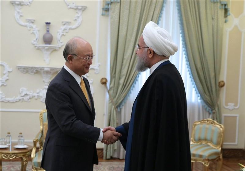 روحاني: سنبقى ملتزمين بالاتفاق النووي طالما نحقق مصالحنا منه