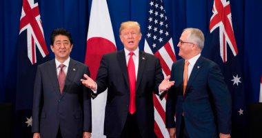 ترامب يلتقى مع زعيمى اليابان وأستراليا لبحث ملف كوريا الشمالية