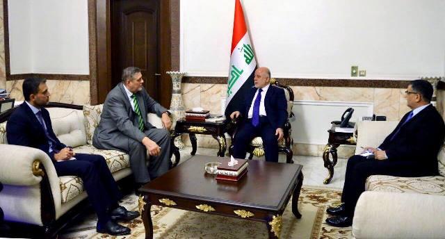 لقاء حیدر العبادي مع مسؤول الأمم المتحدة في العراق