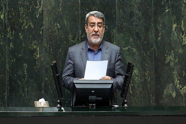 وزير الداخلية الايراني يقدم لمجلس الشورى تقريراً عن اوضاع مناطق الزلزال