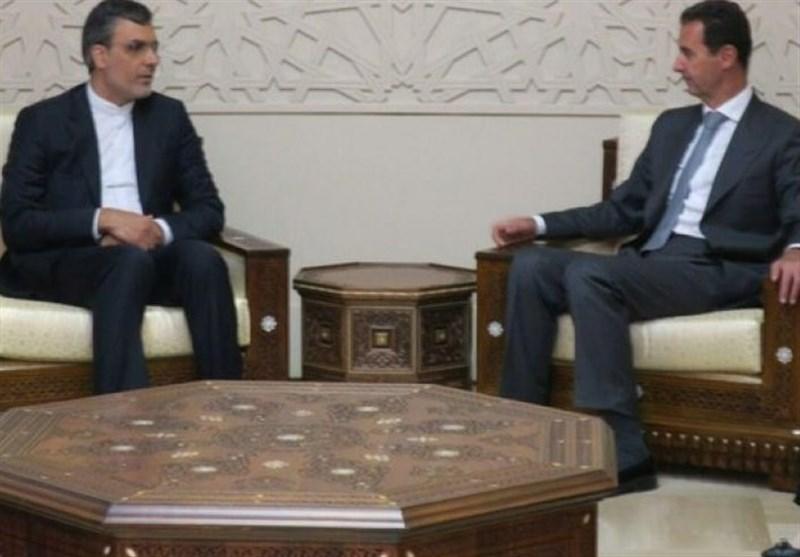 جابري أنصاري يلتقي الرئيس السوري بشار الأسد