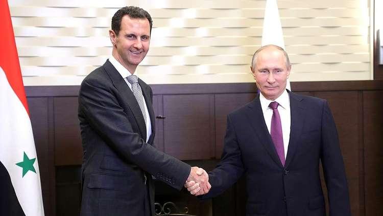 بوتين والأسد يبحثان المبادئ الأساسية لتنظيم العملية السياسية لتسوية الأزمة السورية