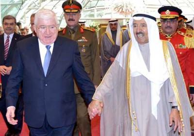 الرئيس العراقي في زيارة رسمية إلى الكويت يرفض أن تكون بلاده منطلقا لأي عمل عسكري في المنطقة