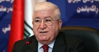 الرئيس العراقى يزور إقليم كردستان لبحث الأزمة بين أربيل وبغداد