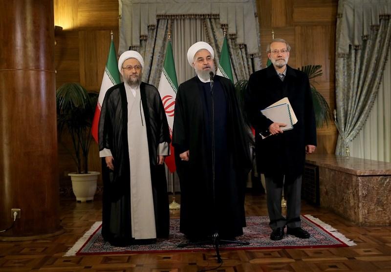 السلطات الايرانية الثلاث تتبادل وجهات النظر بشان أهم قضايا البلاد والمنطقة