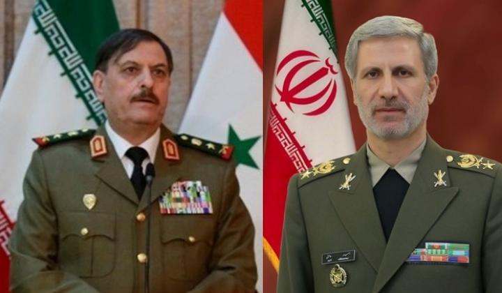 وزيرالدفاع الايراني يهنئ هاتفيا نظيره السوري بتحرير ديرالزور