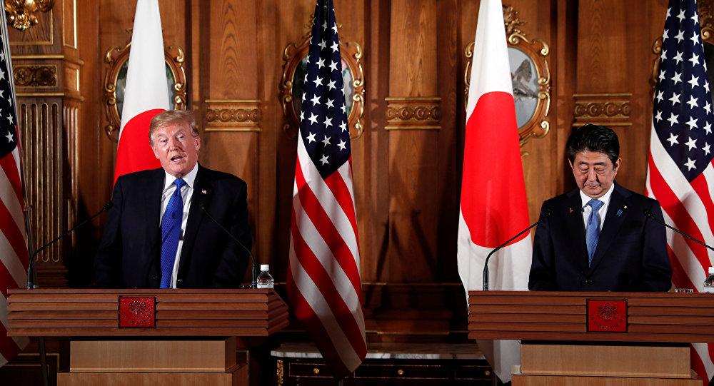 ترامب و آبي تتفقان على ممارسة ضغوط أكبر على بيونغ يانغ لوقف نشاطها النووي