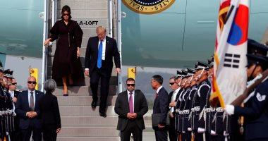 ترامب يصل كوريا الجنوبية لمحادثات بشأن الأزمة النووية والتجارة
