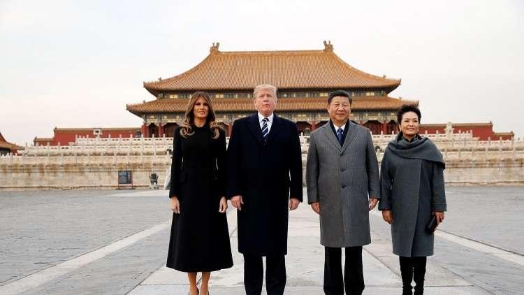 وصول ترامب في أول زيارة رسمية إلى الصين
