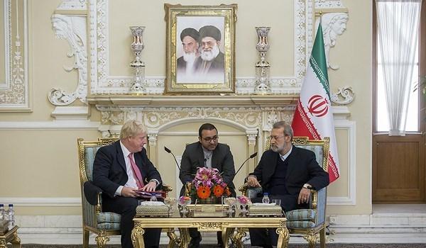 لاريجاني ينتقد عدم تعاون بريطانيا مع ايران بعد الاتفاق النووي