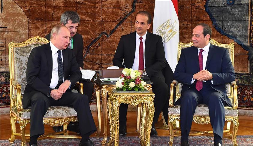 بوتين: اتفقنا على تعزيز قدرات الجيش المصري لمواجهة الإرهاب