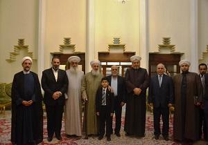 محادثات بين السفير الايراني ومفتي السنة في العراق حول الوحدة الاسلامية