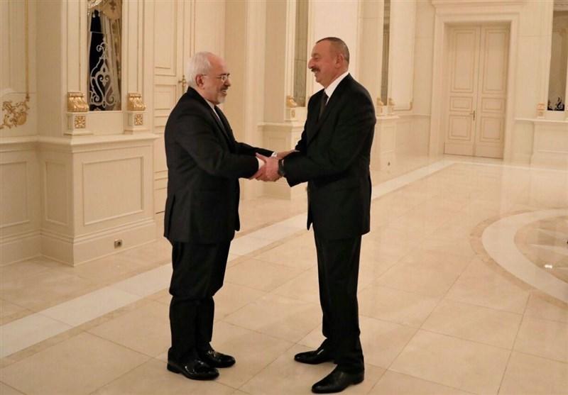 ظريف يبحث مع علييف تطورات العلاقات بين البلدين