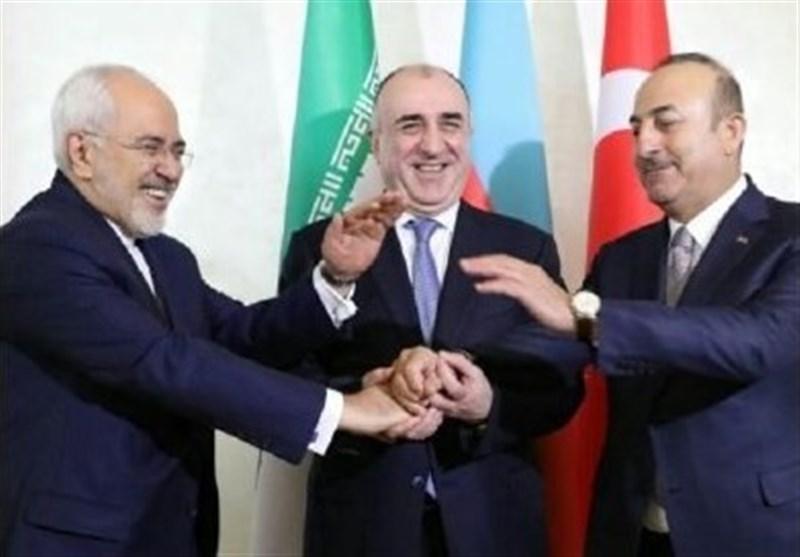 بدء اجتماع باكو الثلاثي بين وزراء خارجية إيران وتركيا وأذربيجان