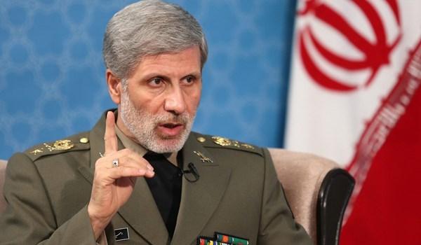وزير الدفاع الايراني: نرفع قدرات البلاد الدفاعية دون ادنى توقف