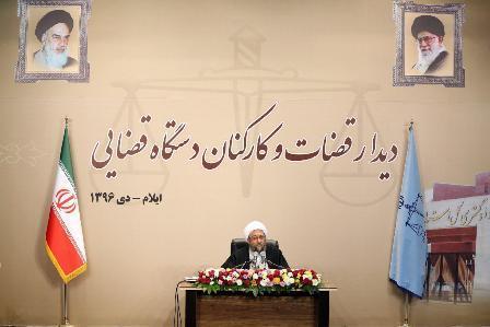 آية الله لاريجاني: العدو يخشي اقتدار السلطة القضائية