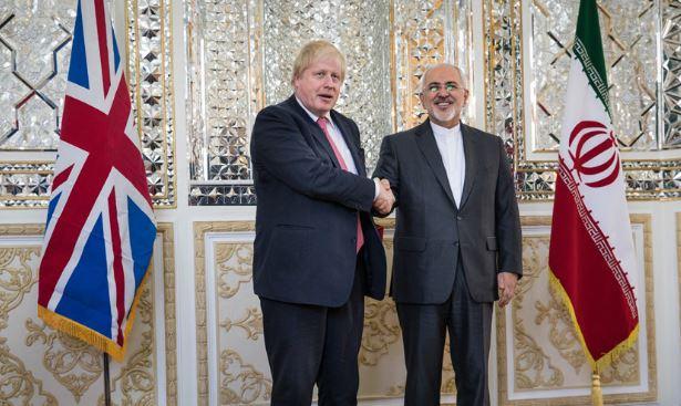 مباحثات بين ظريف وجونسون في طهران