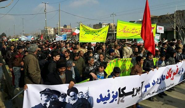 مسيرات ذكرى انتصار الثورة: أميركا هي العدو الأول وأمن ايران مبدأ غير قابل للمساومة