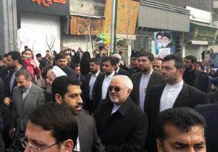 ظريف: مشاركة الشعب في مسيرات انتصار الثورة الاسلامية تحبط جميع التهديدات