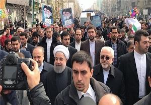 روحاني: المشاركة المليونية جسدت الرد على تخرصات ساسة البيت الابيض