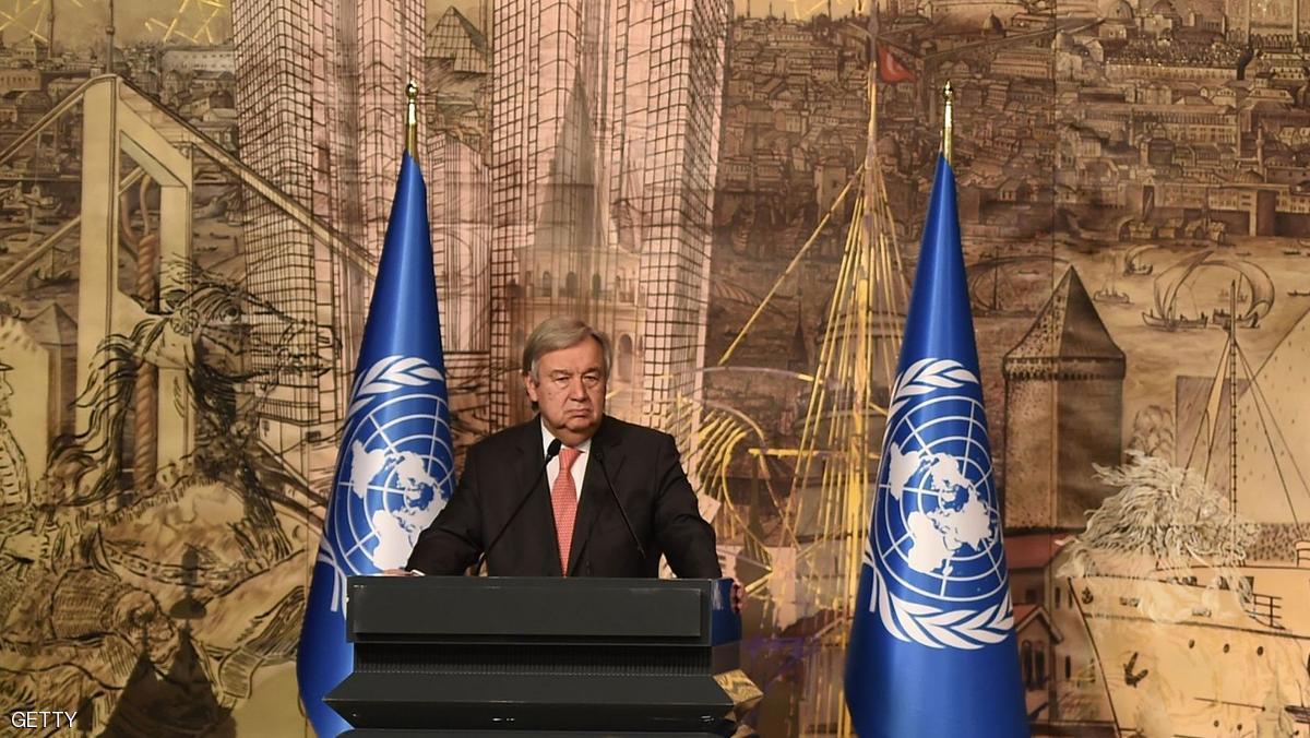 غوتيرس يشدد في أنقرة على حل سياسي للأزمة السورية