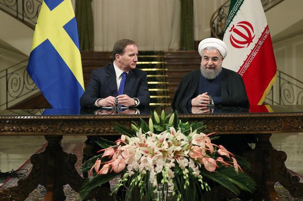 روحاني: موقف السويد من الموضوع النووي الإيراني كان موقفا معتدلا على الدوام