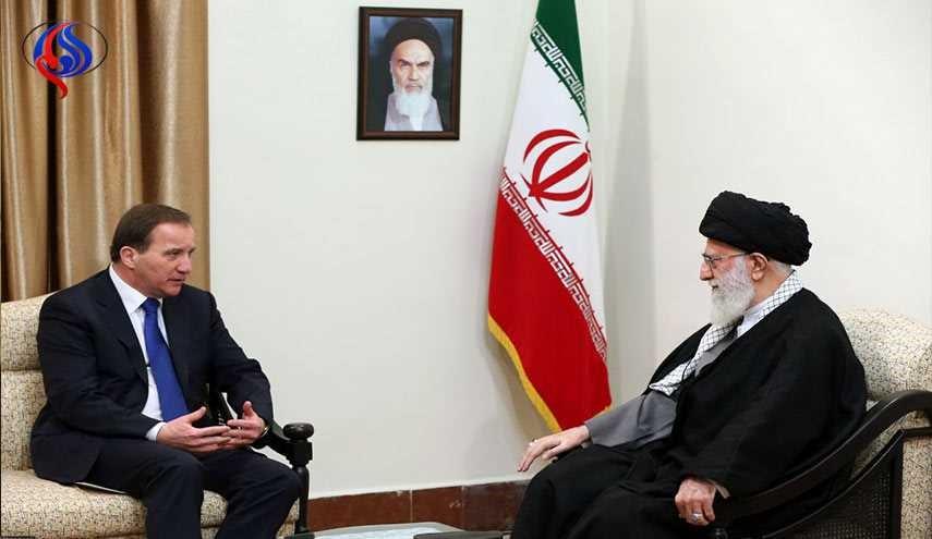قائد الثورة الاسلامية يستقبل رئيس الوزراء السويدي