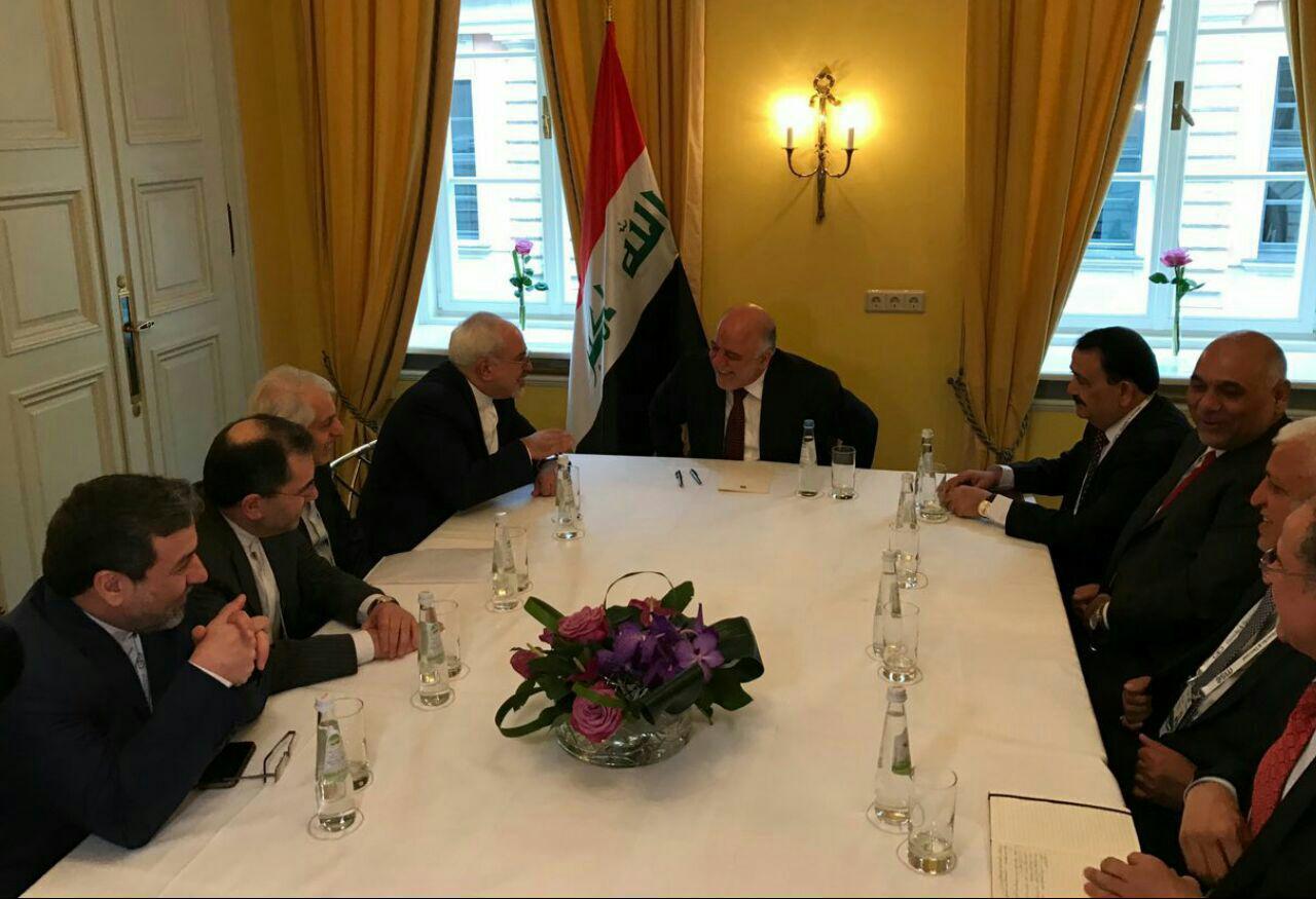 محادثات بين ظريف والعبادي على هامش مؤتمر ميونيخ