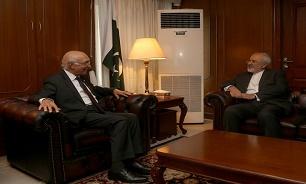 ظريف يؤكد على تعزيز التعاون الثلاثي بين ايران وباكستان وافغانستان